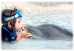 Lauren and Dolphin